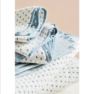 Anthropologie Jacquard Dotted Hand Towels Set of 2